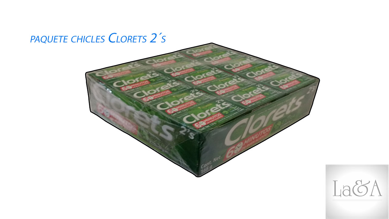 Chicles Clorets 2´s