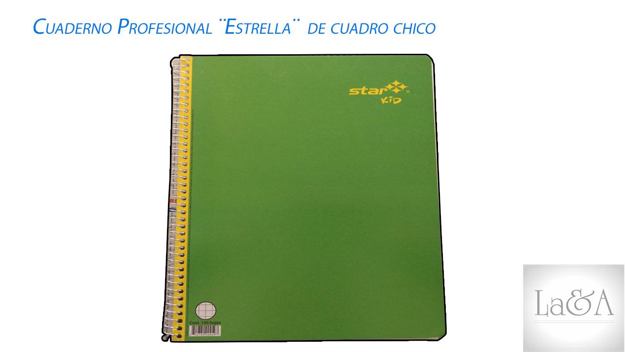 Cuaderno Profesional Estrella Cuadro Chico