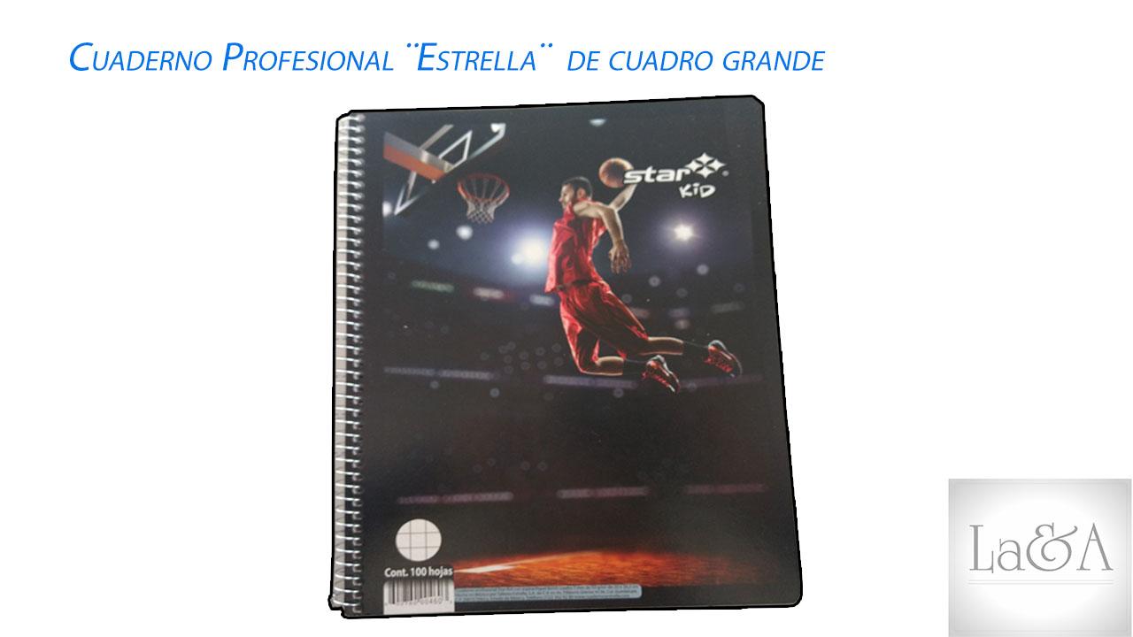Cuaderno Profesional Estrella Cuadro Grande