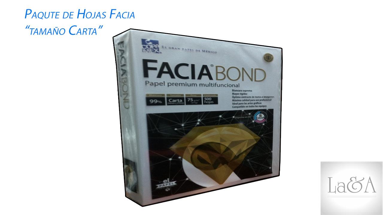 Paquete de Hojas Facia Bond