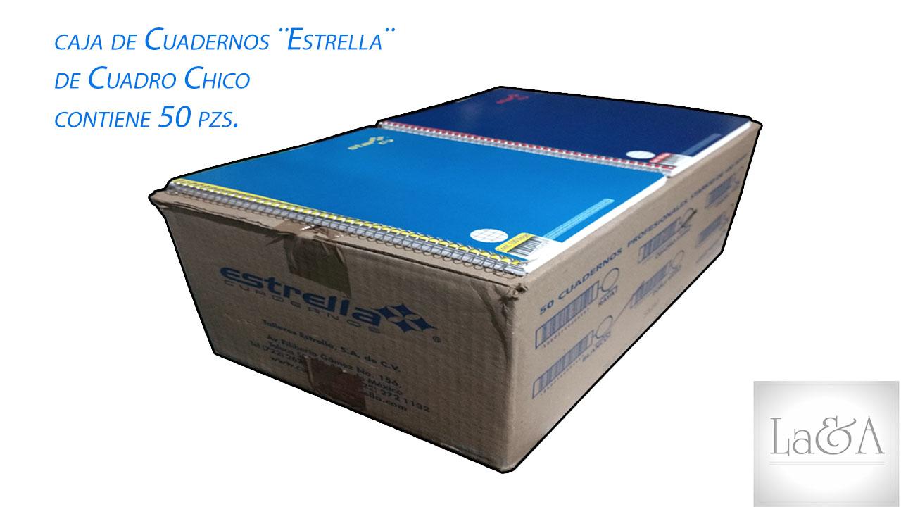 Caja Cuadernos Cuadro Chico ¨Estrella¨