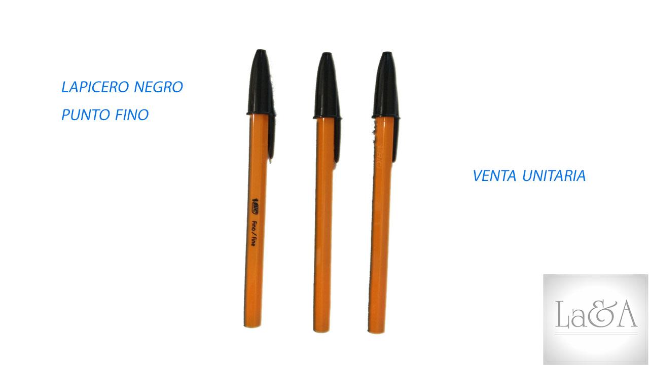 Lapicero Negro P. Fino