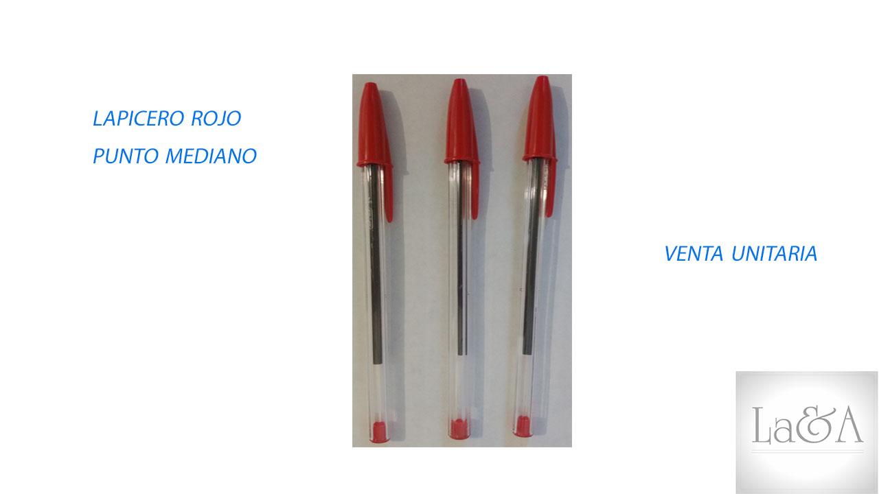 Lapicero Rojo P. Mediano