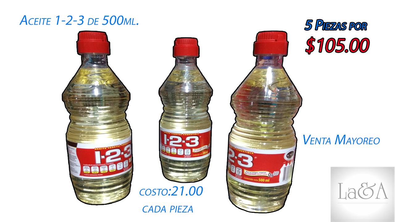 Aceite 1-2-3 500 ml.