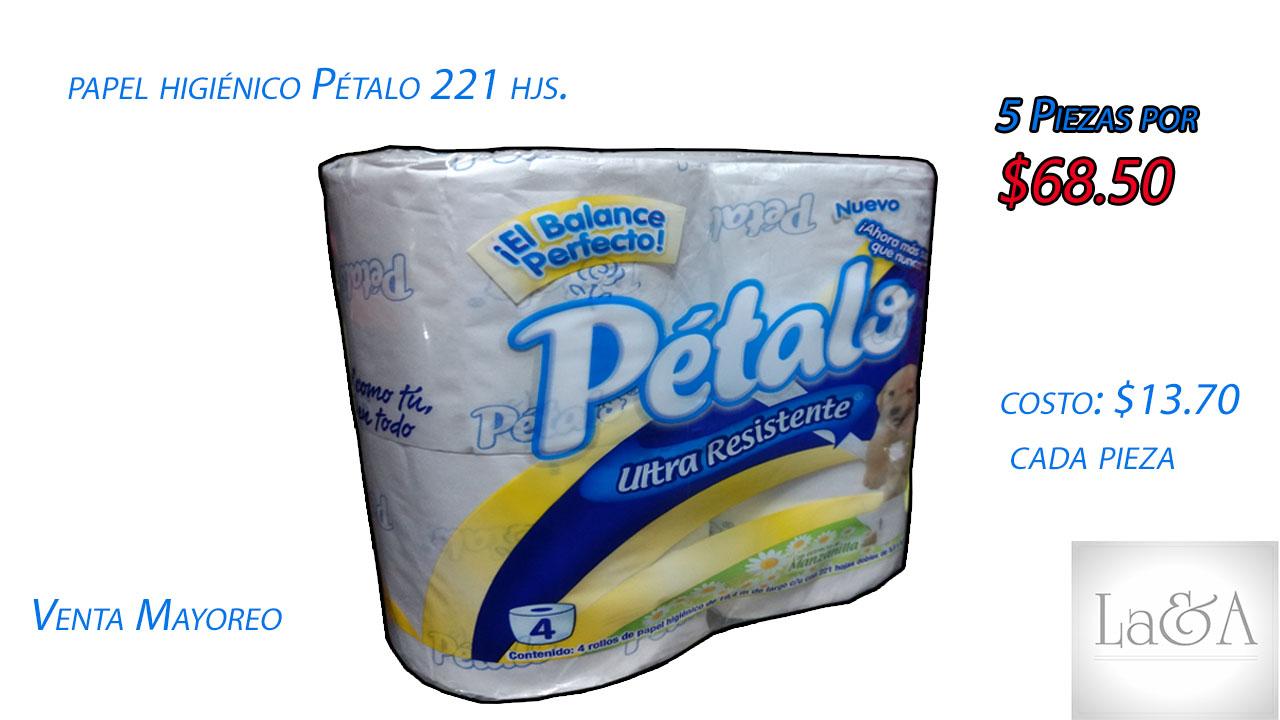 Papel Higiénico Pétalo 221 hjs.