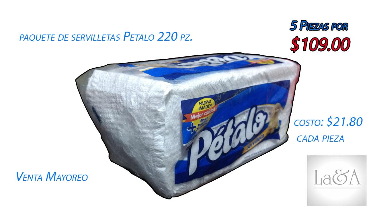 Servilletas Pétalo 220 hjs.