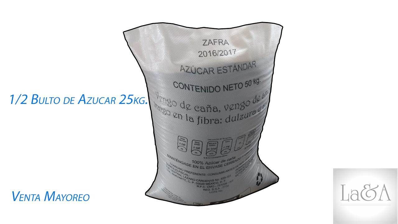 Azucar 1/2 Bulto 25 Kg.