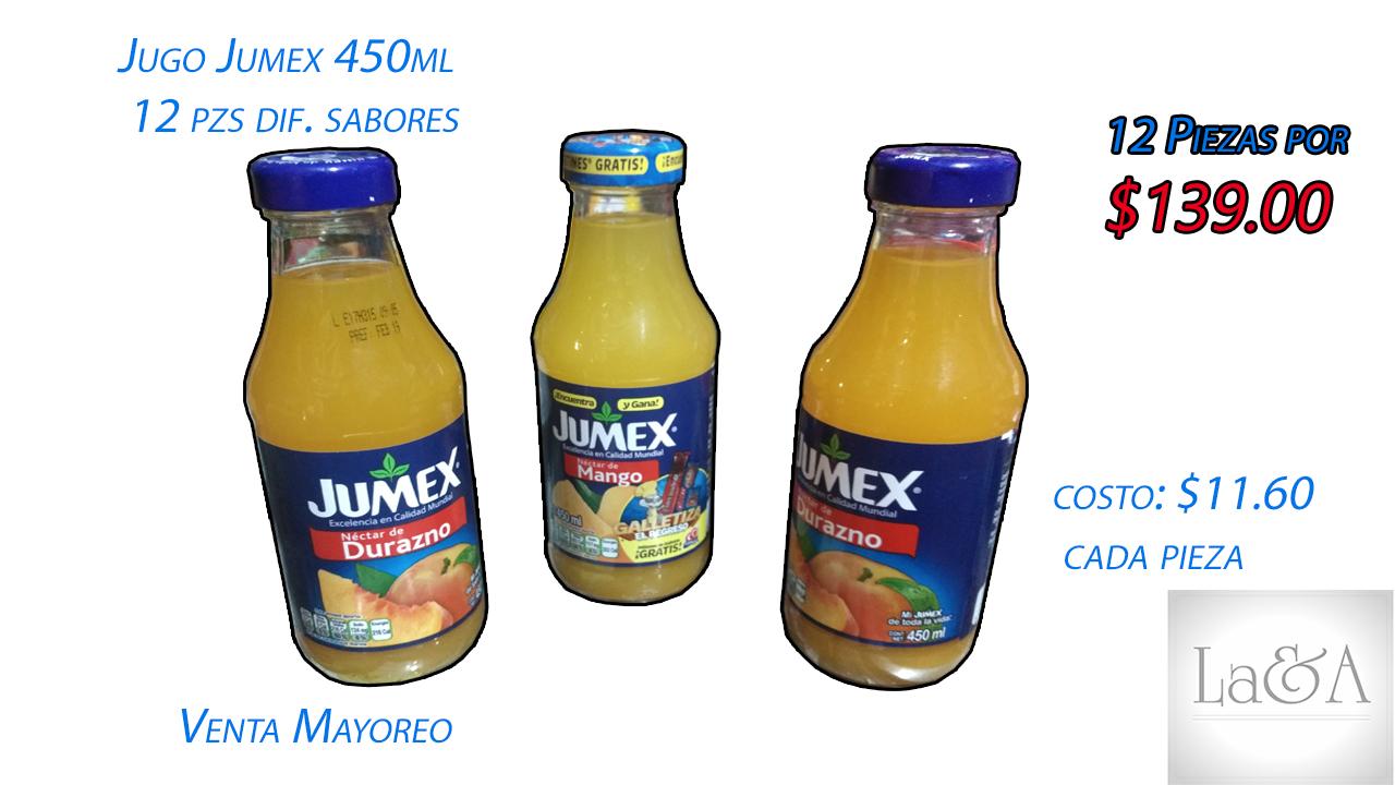 Jugo Jumex 12 pzs.