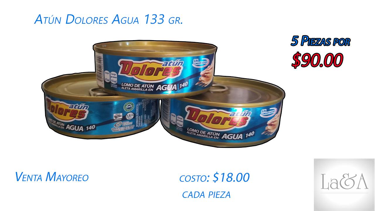 Atun Dolores Agua  133 gr.