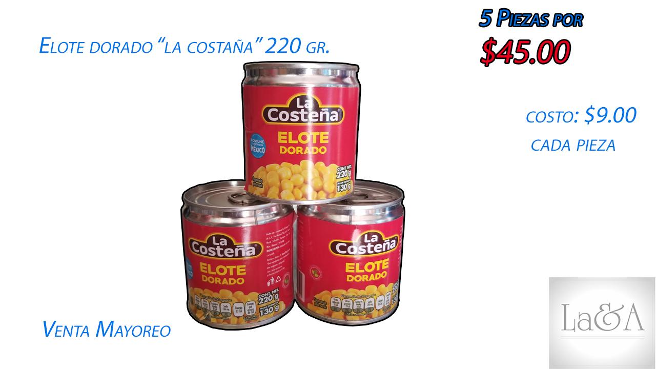 """Elote """"La costeña"""" 220 gr."""