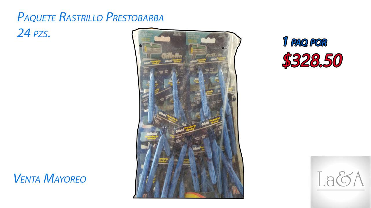 Rastrillo Prestobarba 24 pzs.