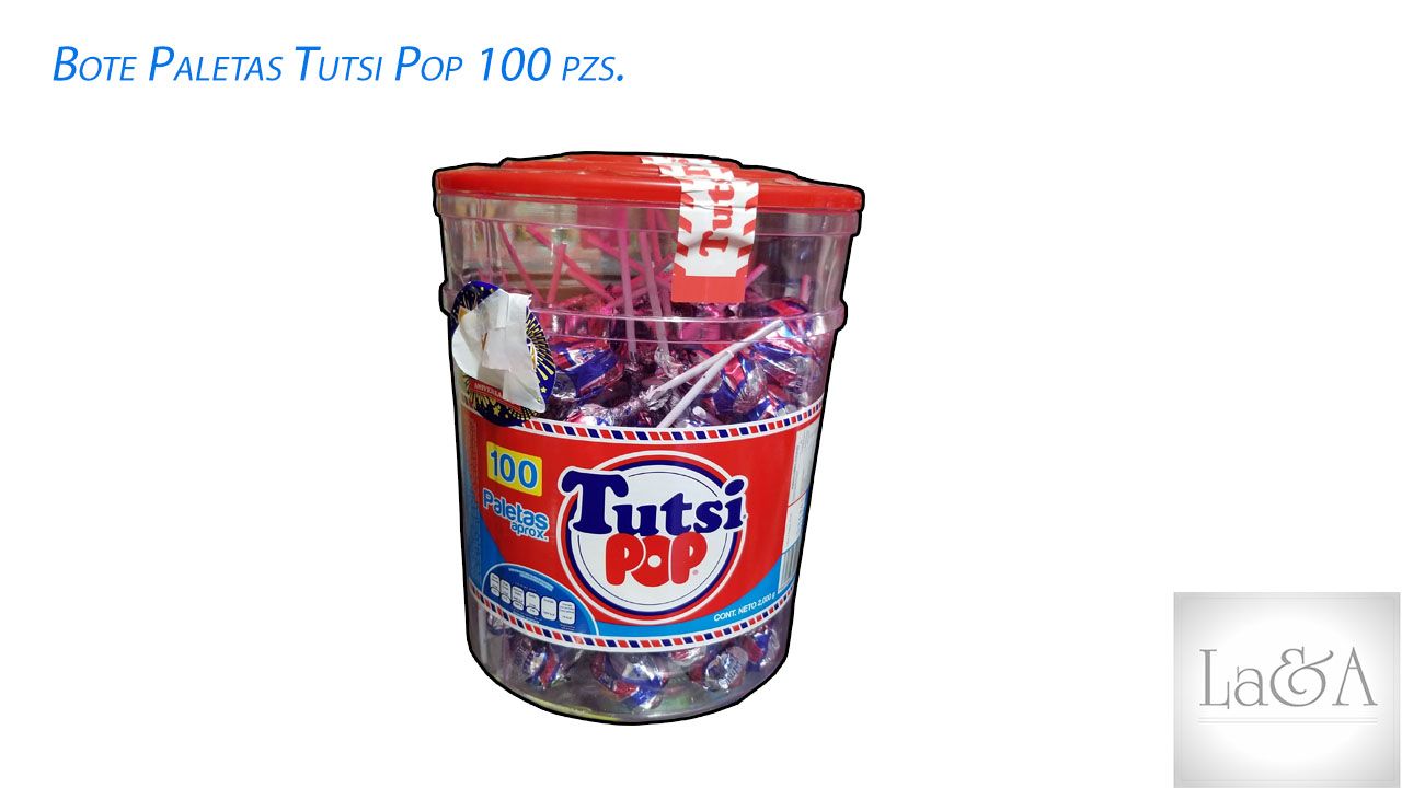 Paletas Tutsi Pop 100 pzs.