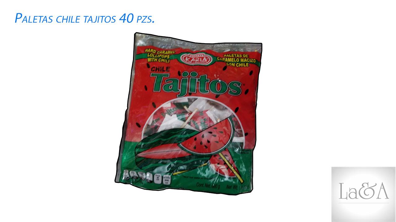 Paletas Tajitos 100 pzs.
