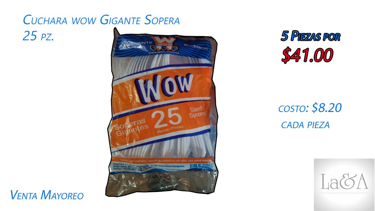 Cuchara Sopera Wow 25 pzs.