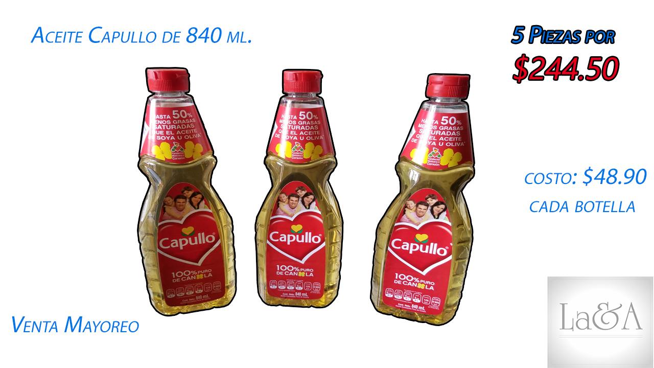 Aceite Capullo 840 ml.