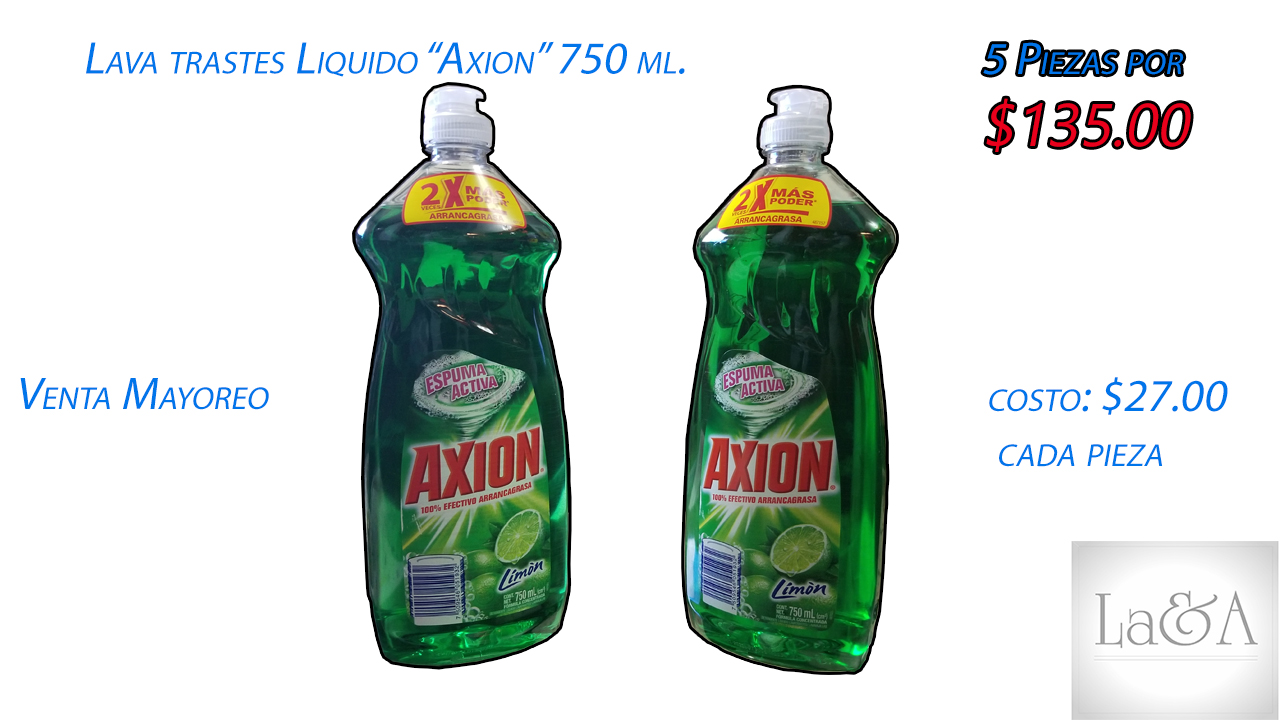 "Lava trastes ""Axion"" 750 ml."